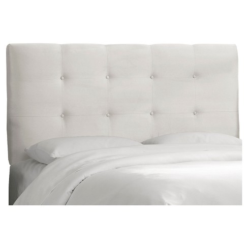 Dolce Microsuede Headboard - Premier White - Queen - Skyline Furniture - image 1 of 2