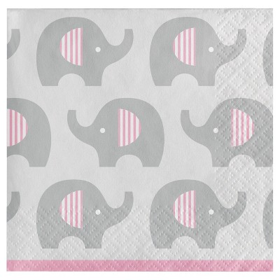 16ct Little Peanut Girl Elephant Cocktail Beverage Napkins