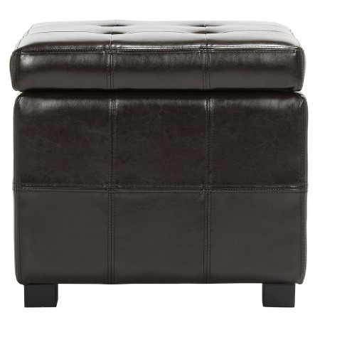 Maiden Square Tufted Storage Ottoman Safavieh