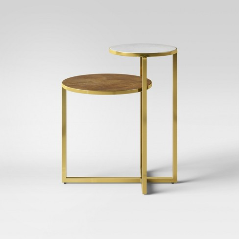 Mixed Material Marble Metal Accent Table Gold Project 62 Target