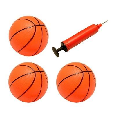 "Insten 3 Pack Inflatable Mini Hoop Toy Basketballs with Pump for Kids, Pool Parties, 3"" Diameter"