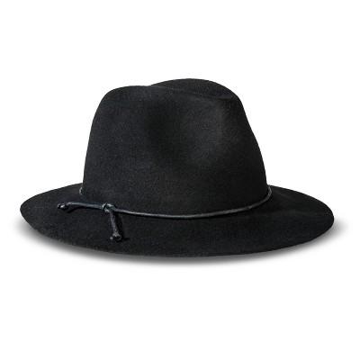 Women\u0027s Solid Fedora Hat Black - Merona™ : Target
