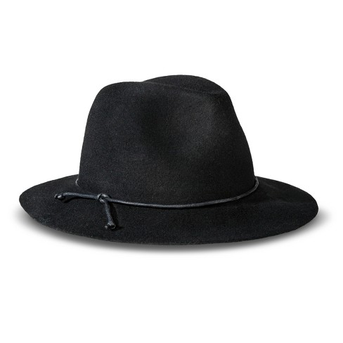 998aa7585f002 Women s Solid Fedora Hat Black - Merona™   Target