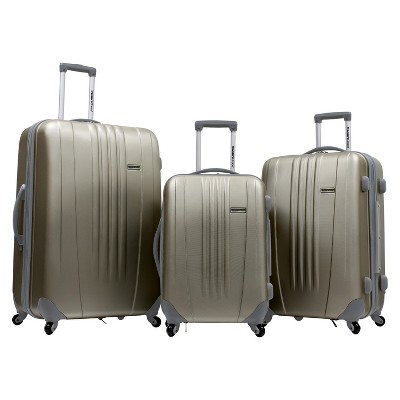 Traveler's Choice Toronto 3pc Hardside Spinner Luggage - Gold
