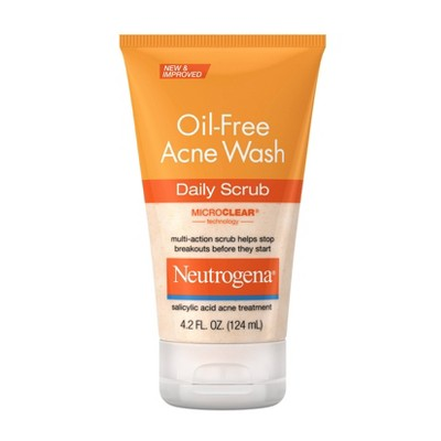 Neutrogena Oil-Free Acne Face Wash Daily Scrub with Salicylic Acid - 4.2 fl oz