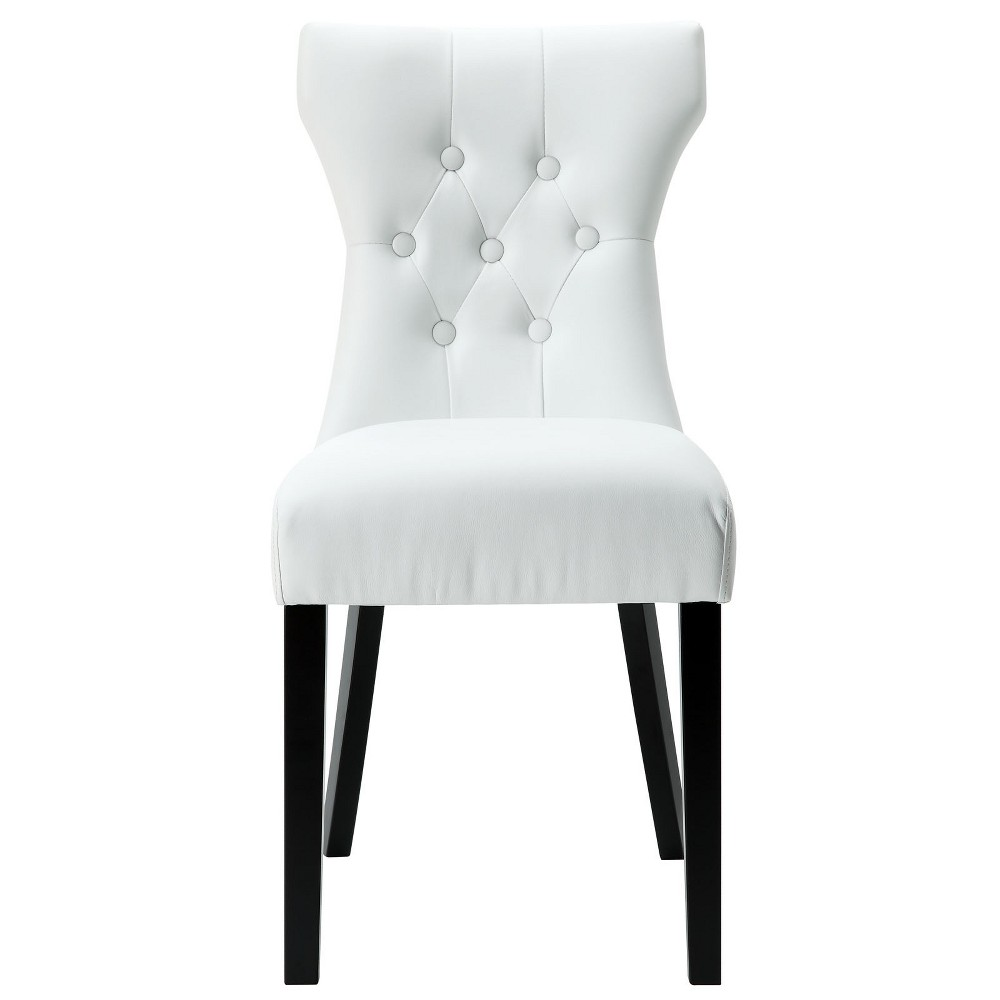 Silhouette Dining Vinyl Side Chair White - Modway