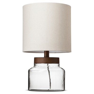 Fillable Glass Accent Lamp Clear Includes Energy Efficient Light Bulb - Threshold™