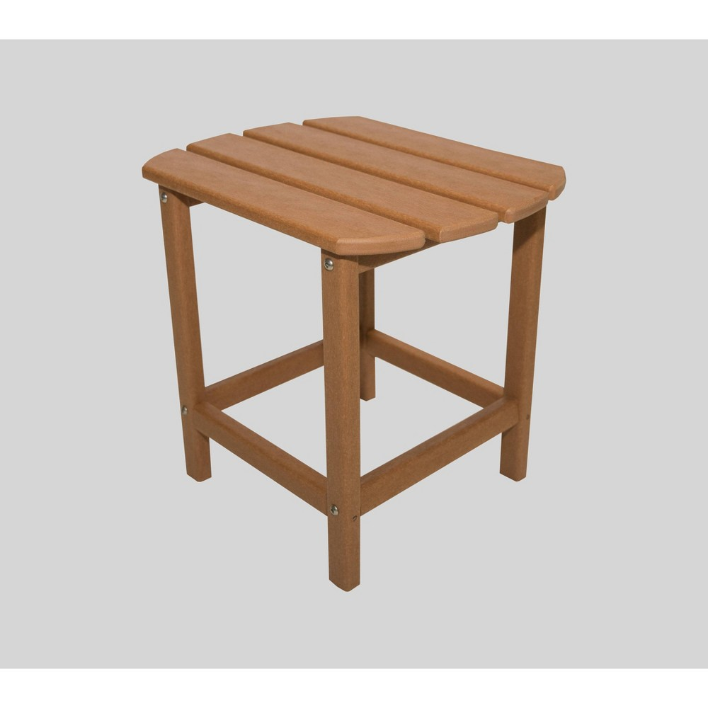 "Image of ""Corona 18"""" Recycled Plastic Side Table - Teak - LuXeo"""