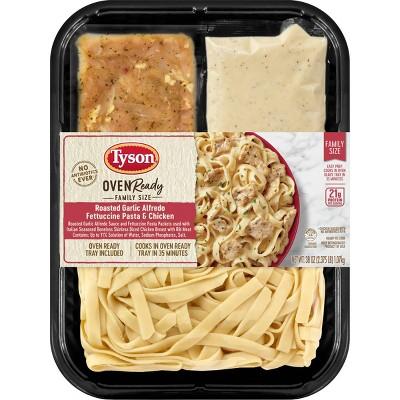 Tyson Oven Ready Family Size Roasted Garlic Chicken Alfredo and Fettuccine Pasta Kit - 38oz
