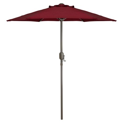 Northlight 7.5' Outdoor Patio Market Umbrella with Hand Crank - Burgundy