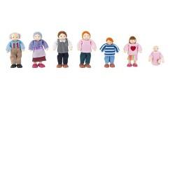 KidKraft Doll Family of 7 - Caucasian