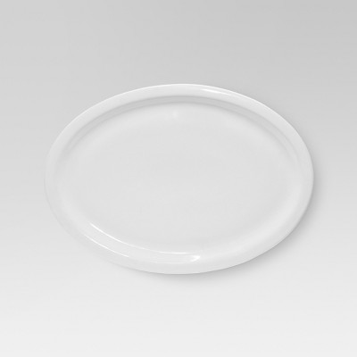 Large Basic Modern Oval Platter White - Threshold™