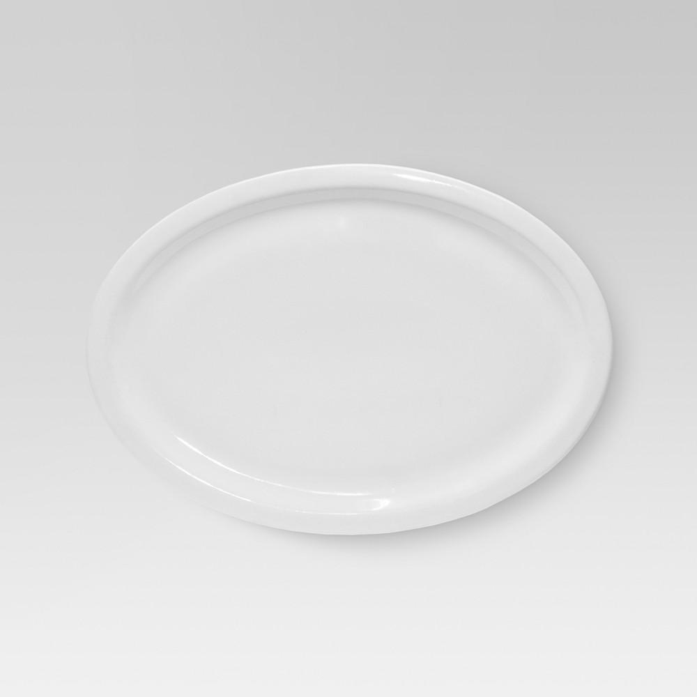 Large Basic Modern Oval Platter White - Threshold