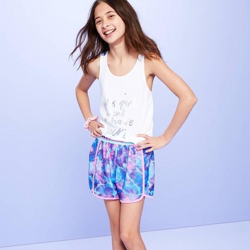 Girls' Tie-Dye Design Pajama Shorts - More Than Magic™ Magenta - image 1 of 3