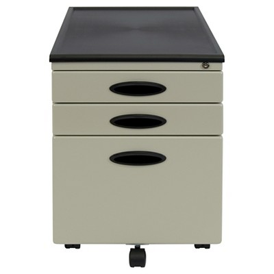 Mobile File Cabinet w/Locking Drawers - Putty