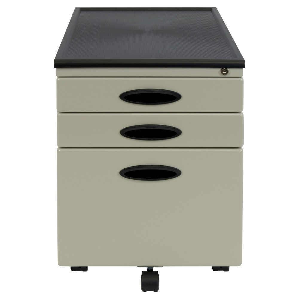 Discounts Mobile File Cabinet w Locking Drawers - Putty