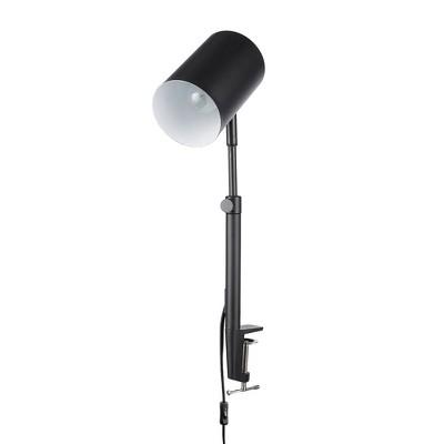 "18"" Adjustable Height Clamp Arm Pratt Table Lamp Matte Black - Globe Electric"