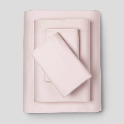 King 300 Thread Count Modern Solid Sheet Set Belle Pink - Project 62™ + Nate Berkus™