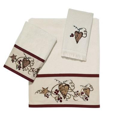 Avanti Hearts & Stars 3 Pc Towel Set