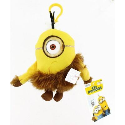 "Commonwealth Toys Minion Movie Jungle Minion (1 Eye) Clip-On 5"" Plush"
