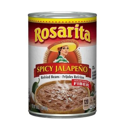 Rosarita Spicy Jalapeño Refried Beans - 16oz