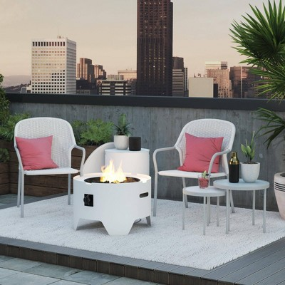 """Astra 23"""" Fire Pit White - CosmoLiving by Cosmopolitan"""