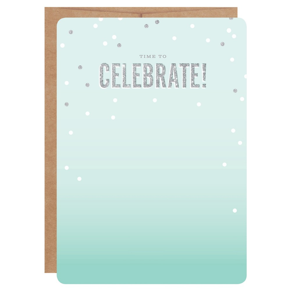 Inklings Paperie 12ct Teal Ombré Print-on Invitations