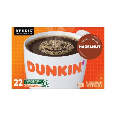 Dunkin' Donuts Hazelnut Dark Roast Coffee - Keurig  K-Cup Pods - 22ct