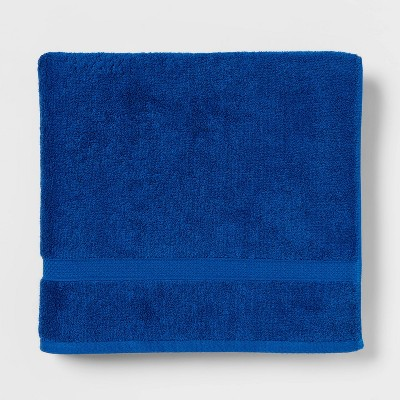 Soft Solid Bath Towel Bright Blue - Opalhouse™