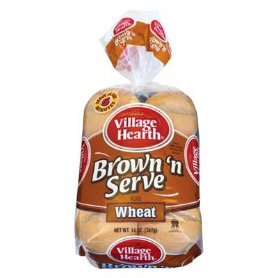 Village Hearth Wheat Brown 'N Serve Rolls - 12ct/14oz