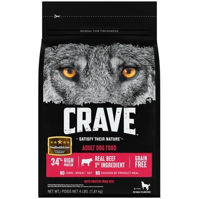 Crave Grain Free High Protein with Protein From Beef Adult Premium Dry Dog Food