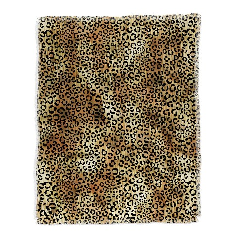 Schatzi Brown Leopard Tan Throw Blanket Brown - Deny Designs - image 1 of 2