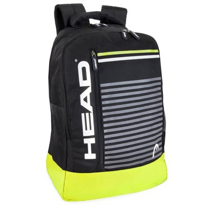 """HEAD 18"""" Headshot Backpack - Black/Lemon"""