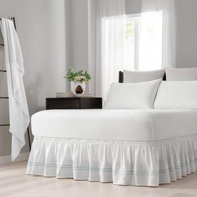 Wrap Around Baratta Stitch Ruffled Bed Skirt - EasyFit™