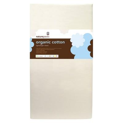 Naturepedic Certified Organic Cotton Classic Baby Crib & Toddler Mattress – Lightweight