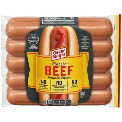 Oscar Mayer Classic Uncured Beef Franks - 15oz