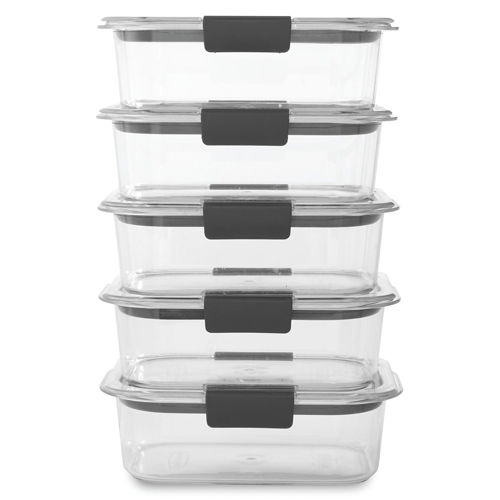 Image of Rubbermaid Brilliance 5pk 3.2 cup Airtight Food Storage Container Set