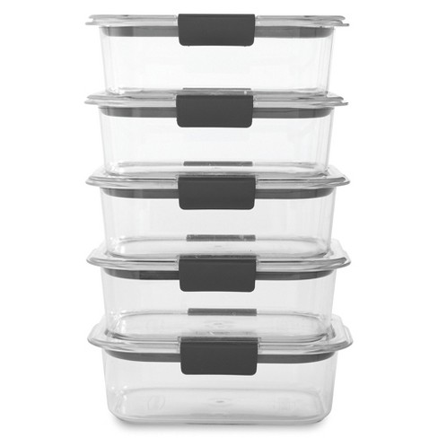 Rubbermaid Brilliance 5pk 3.2 cup Airtight Food Storage Container Set - image 1 of 4