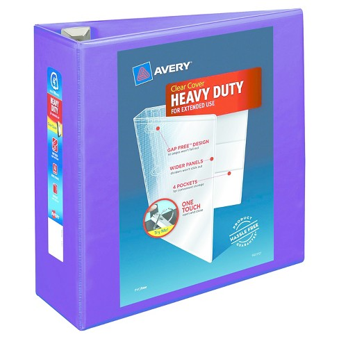 avery heavy duty view binder with locking ezd rings 4 cap purple