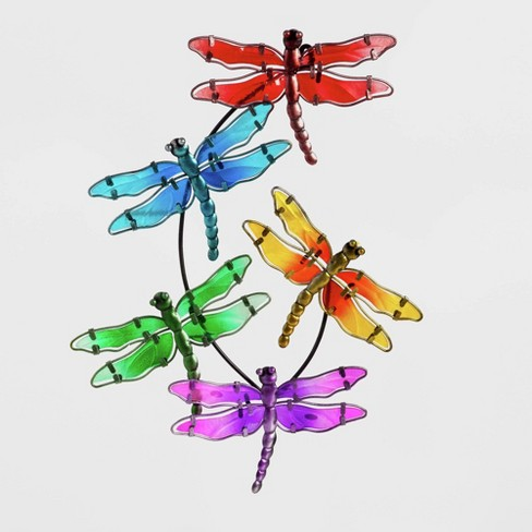 """20"""" Metal Dragonfly Wall Art - Evergreen - image 1 of 3"""