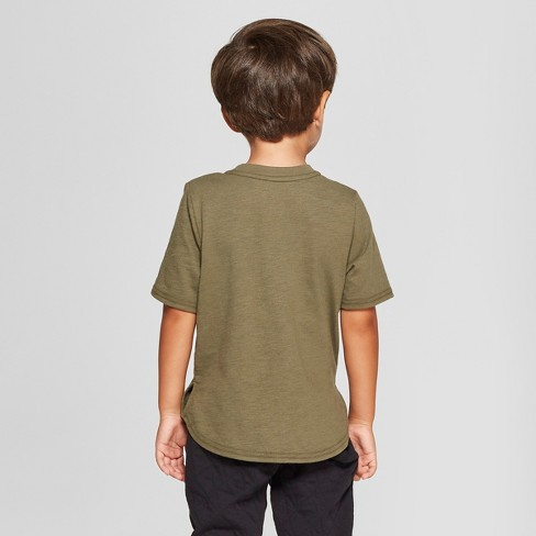 Toddler Boys  Short Sleeve T-Shirt With Pocket - Cat   Jack™ Olive Green    Target 7e11d7344bc
