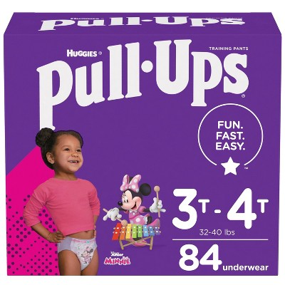 Huggies Pull Ups Girls' Potty Training Pants - 3T-4T (84ct)