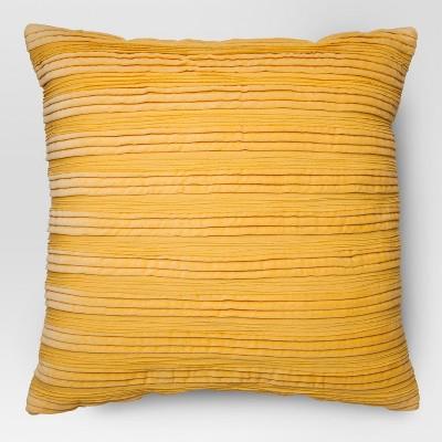 Yellow Velvet Texture Throw Pillow - Threshold
