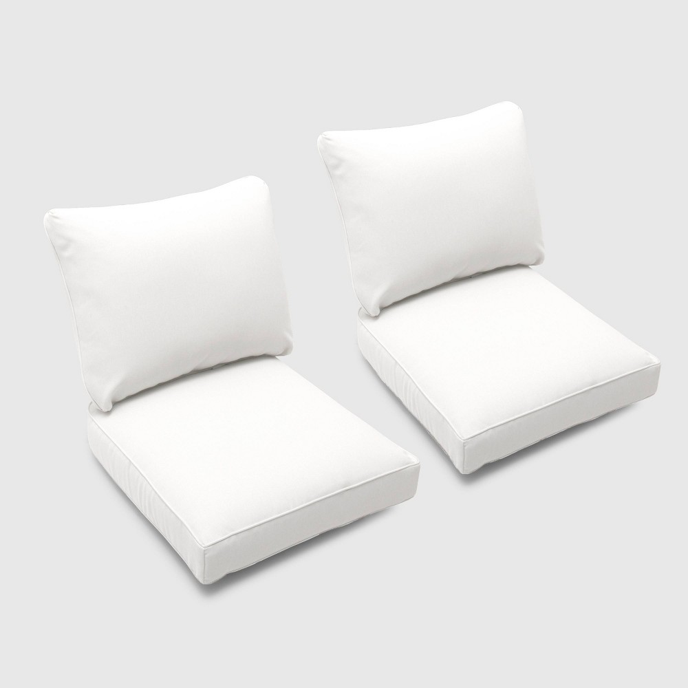 Foxborough 2pk Loveseat Cushions Linen - Threshold