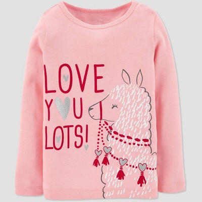 Toddler Girls' Llama Love T-Shirt - Just One You® made by carter's Pink 2T