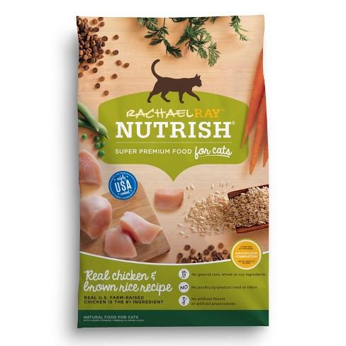 Rachael Ray Nutrish Natural Dry Cat Food Chicken Brown Rice Recipe