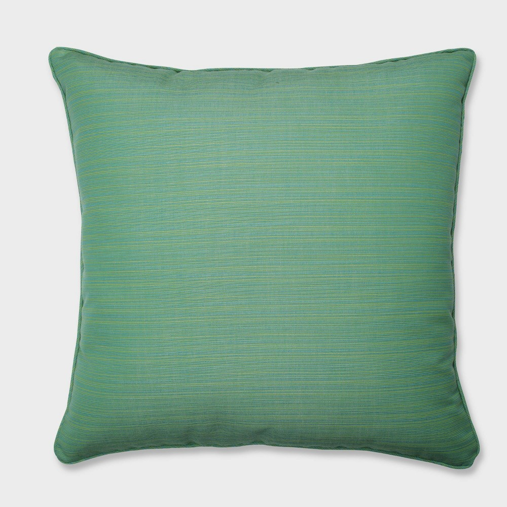 25 Dupione Paradise Floor Pillow Green - Pillow Perfect