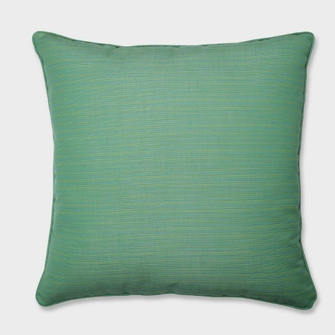 """25"""" Dupione Paradise Floor Pillow Green - Pillow Perfect - image 1 of 1"""