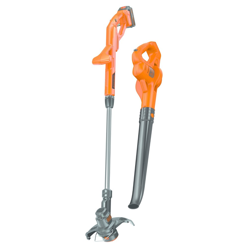 "Image of ""BLACK+DECKER 20V Lithium 10"""" String Trimmer/Sweeper Combo LCC221 - Orange"""