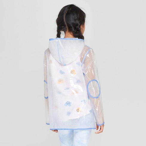29bc72548b1 Girls' Long Sleeve Glitter Rain Coat - Cat & Jack™ XL : Target